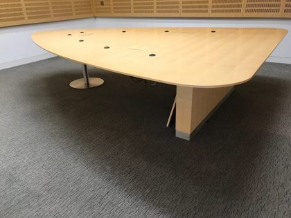Luke Hughes Triangular Maple Boardroom Table