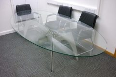 Used Oval Glass Boardroom Table