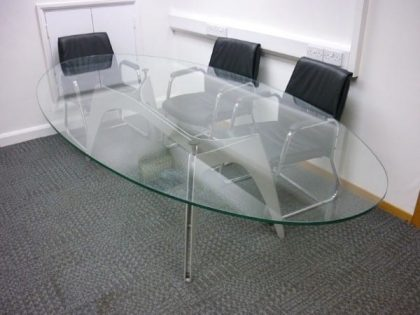Oval Glass Boardroom Table