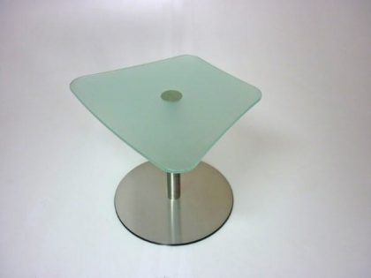 Trapezoidal Glass Coffee Tables