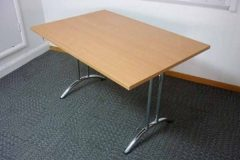 Used Beech Folding Leg Tables