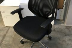 Used Black Mesh Back Operator Chairs