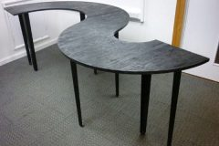 Industrial-Style Black S-Shape Table