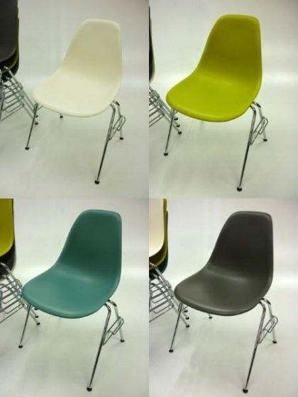 Vitra DSS Plastic Stacking Side Chairs
