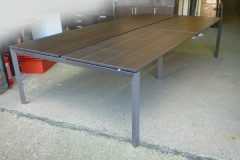 Four Person Wenge Bench Desk