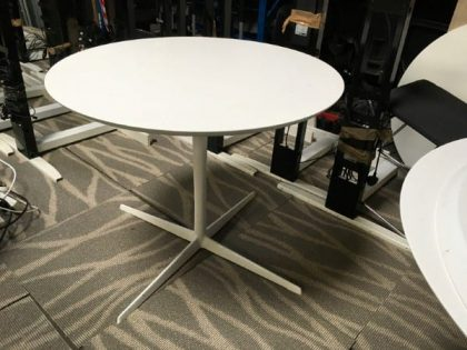 White Circular Tables