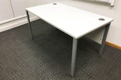 White Desks With Modesty Panels