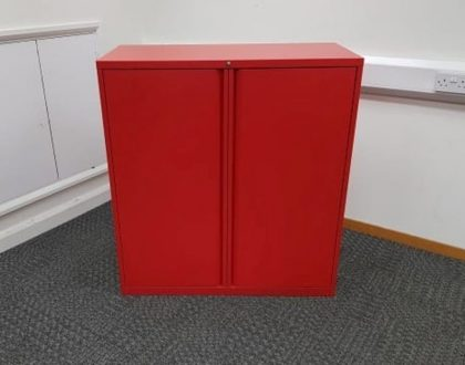 Red Metal Storage Cupboards