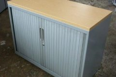 Bisley Desk High Tambour Cupboards