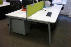 Elite Linnea White Bench Desks