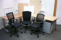 Used Home Office Desks & Chair Package