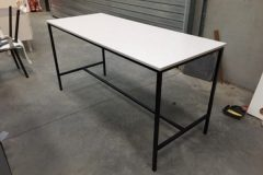 Rectangular White Poseur Tables