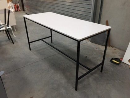 Rectangular White Poseur Tables